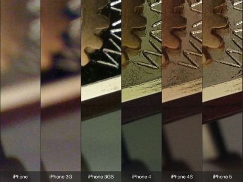 How does the iPhone 5 camera compare to previous iPhone cameras?